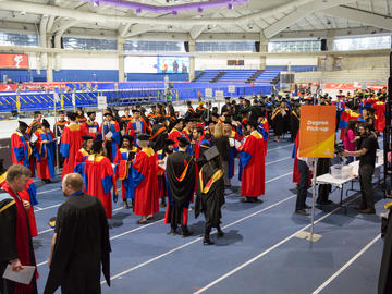 Students celebrate graduation at the 2019 fall convocation ceremony.